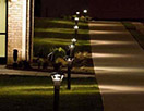 Outdoor lighting for gate piers